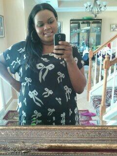 Big black girl falling